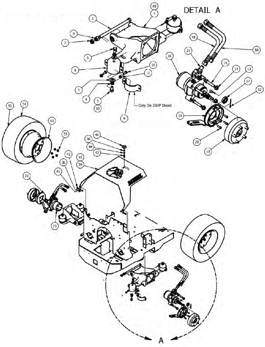 diesel suspension assembly